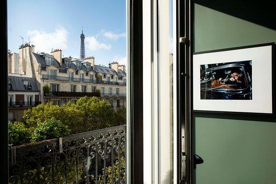Studio deluxe avec Balcon et vue sur la Tour Eiffel.