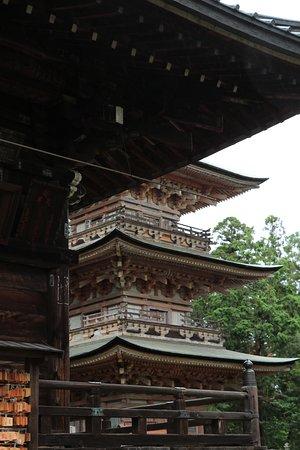 総高約24.3m方三間の三重塔。