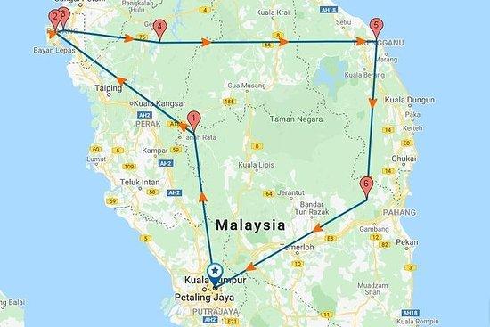 Circuit terrestre de 7 jours aux merveilles de la Malaisie