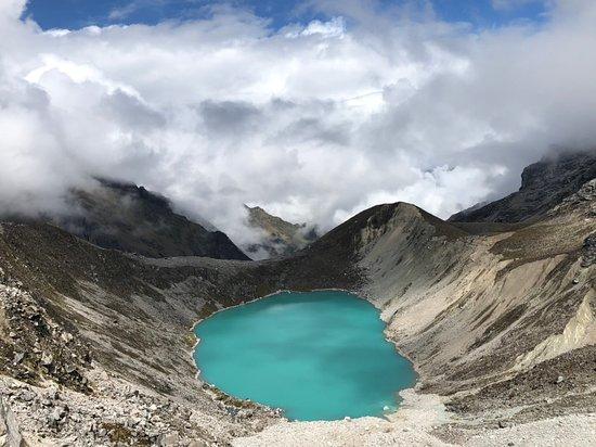 Detour to see this beautiful lake after Salkantay