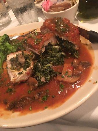 Eggplant Parmigiana, Swordfish, Baked Ziti, Chicken Gianni, Garlic Rolls