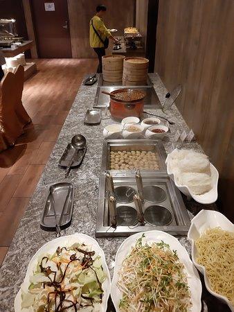 Buffet breakfast on the ground floor.