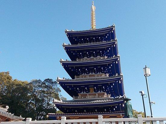 中山観音の青い五重塔