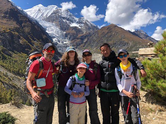 Best Nepal Tour: This is our family with the fantastic guide, Nabin Gurung +9779865168926