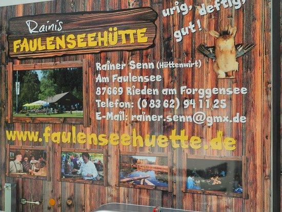 Rieden am Forggensee, Nemecko: Raini ist immer im Sommerhalbjahr dort am Faulensee