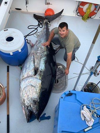 Captain Shane with Bluefin Tuna