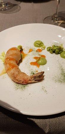 A deep fried prawn