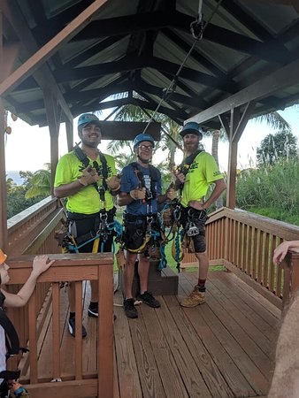 9-Line Zipline Experience: Our guides were GREAT!!