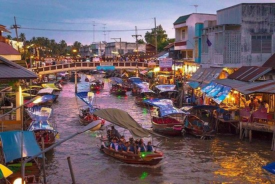 Bangkok Amphawa Floating Market, Firefly and Maeklong Private Tour