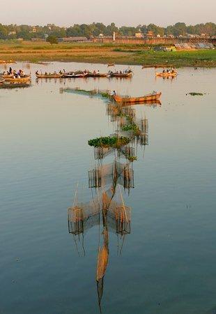 View from U Bein Bridge