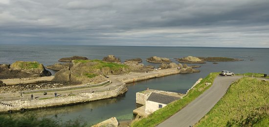 The pier/ lookout point at Ballintoy Harbor.