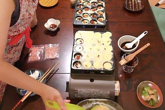 Cook Osaka takoyaki from scratch @ Ibaraki