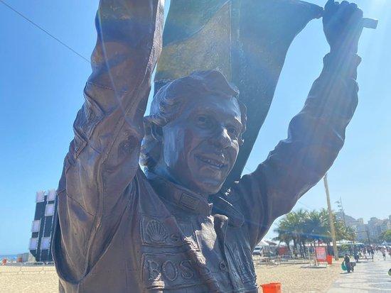 Estatua do Ayrton Senna