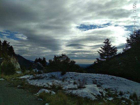 Alonistaina, Greece: Ορεινη Αρκαδία, υποδέχτηκε με χιόνι το νέο έτος