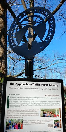 Appalachian Trail passes through the center