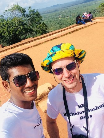 On the top of the Sigiriya Rock