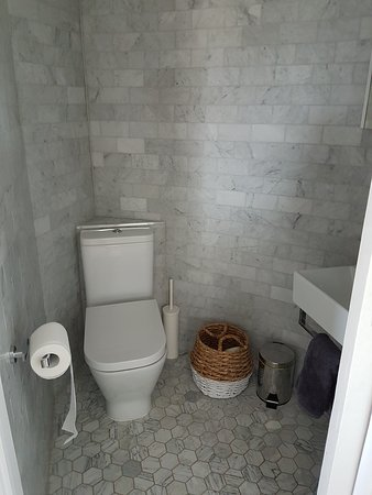 Bathroom on the top level of the tower