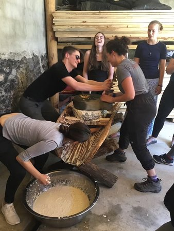 Learning how to make Soya Bean from Tofu.
