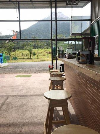 La vista desde el bar.