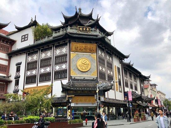 Ancient building as shop