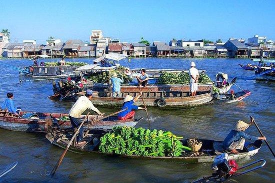 湄公河三角洲小团体一日游-彩贝水上市场-新风岛