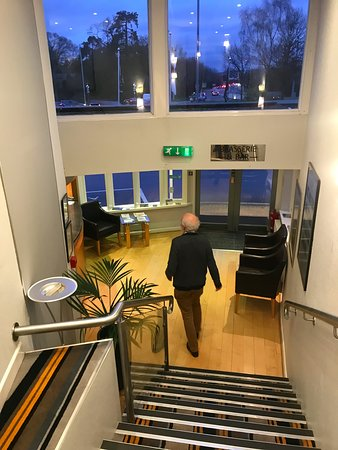 Stairs to/from reception