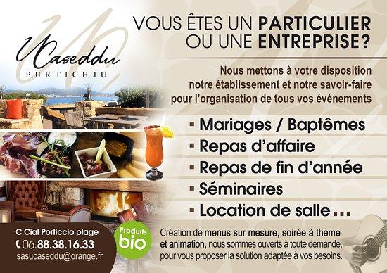 Profitez de notre Etablissement pour vos réceptions!! Salle de mariage, baptême, repas d'entreprise, du sur mesure !