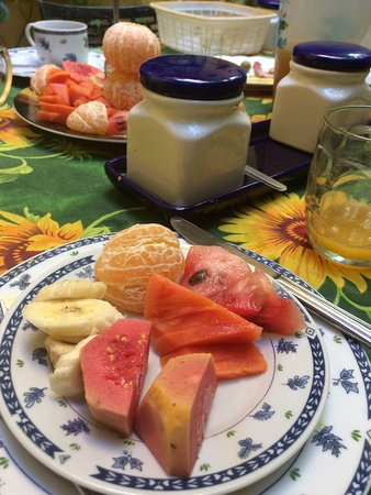 ...lots of fresh fruits for breakfast