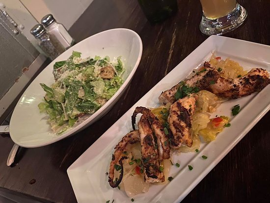 Kensington, MD: Grilled Octopus and Caesar Salad