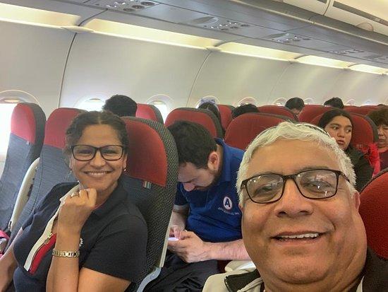 Regresando en Latam, muy buen vuelo