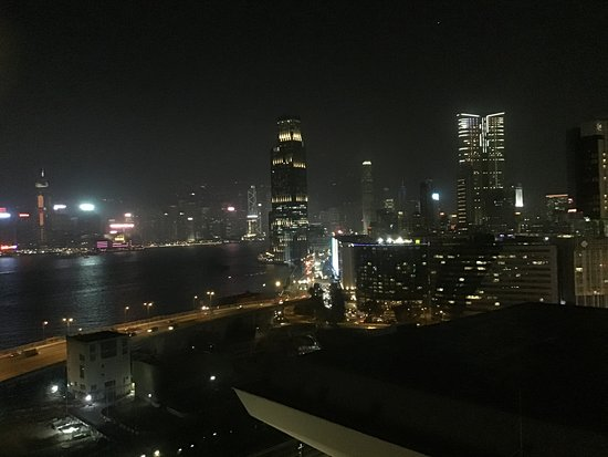 Same view at night.