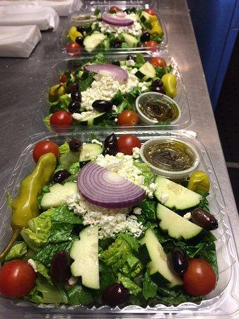 Greek Salad. Salads made fresh daily