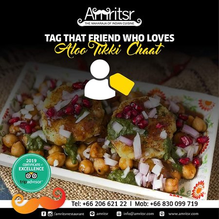 Crispy spicy #AlooTikkiChaat with tangy and hot #Chutney, did your mouth water too?   Tag a friend who loves Aloo Tikki Chaat! 😋  P.S. - If you don't have that #Friend then you probably ARE the friend! 😛