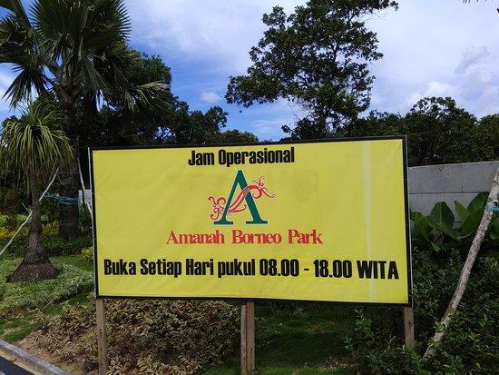 Jam operasional Amanah Borneo Park