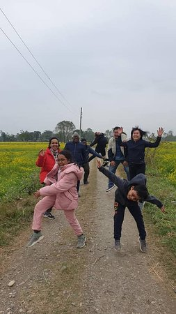 In Chitwan surrounded by canola flowers
