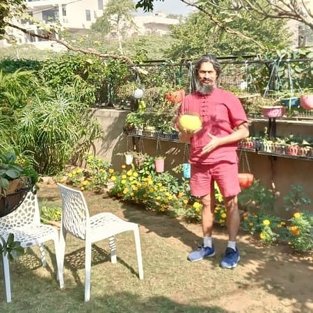 Jaipur, India: Vsited Garden of Mrs Neeta Upadhyay ( orion greens) I was overjoyed to spend time in nature. I plucked fruits & vegetables, climbed trees and enjoyed organic juices post Meditation. Really a peaceful home!