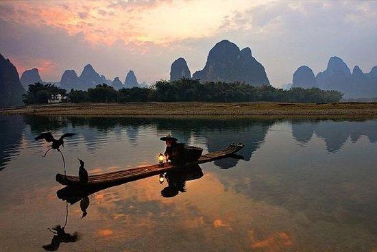 Yangshuo Cormorant Pêche et Xingping...