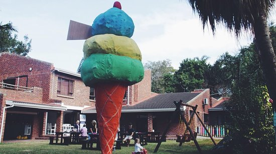 Our iconic ice cream cone is the first thing the kids spot!