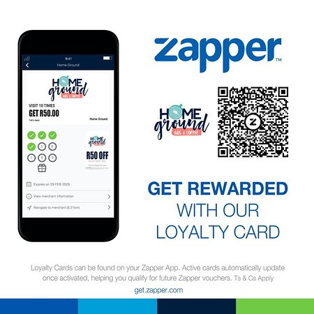 We have a zapper loyalty card.