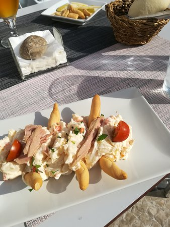 Ensaladilla Rusa - fresh full of flavour, Manchego cheese and warm bread