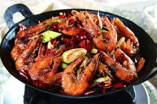 Sichuan style Chili prawn