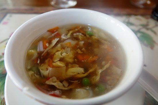 La soupe de crabe et asperges