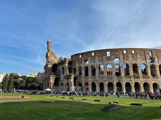 The back of the Colosseum