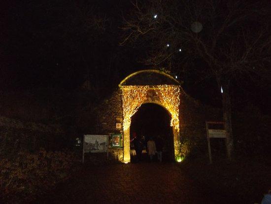 Décoration de l'entrée du château de Rochefort en terre
