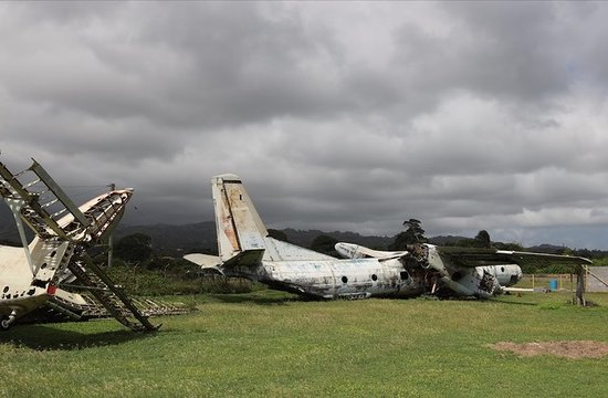 Saint Andrew Parish, Grenada: The two Cuban, Russian made planes on the side of Pearls Airport