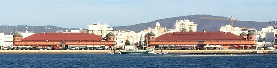 View of Olhao from Sea