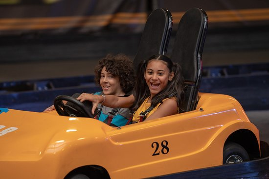 Indoor Go-Kart Track with single and double cars.