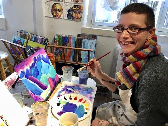 joyful artist time in santa fe