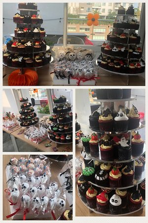 Halloween Celebrations with cupcakes cake pops and more