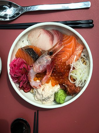 Another photo of our Chirashi donburi. Find this and a variety of rice bowls at our Jewel Changi Airport outlet. Japanese food, cocktails, and craft beer available too!